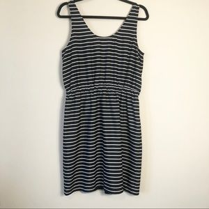 Loft Black Striped Tank Dress